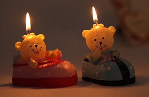 red cherry blue teddy bear car kids birthday candles Teddy Bear Candles