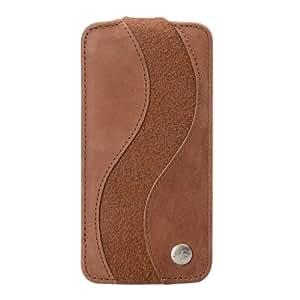 Melkco APIPONLCJS1BNCVBNSE Special Edition - Funda de piel con tapa para Apple iPhone 5C, color marrón