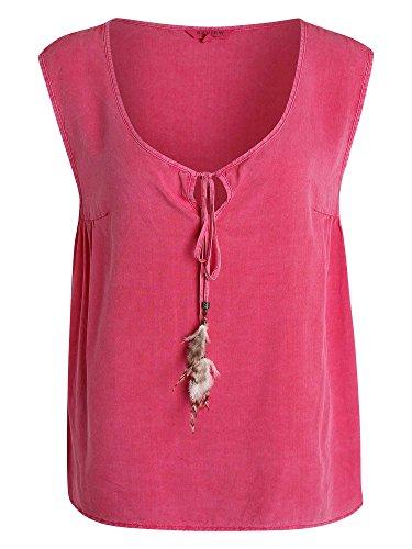 REVIEW Top tipo camiseta Mujer frambuesa