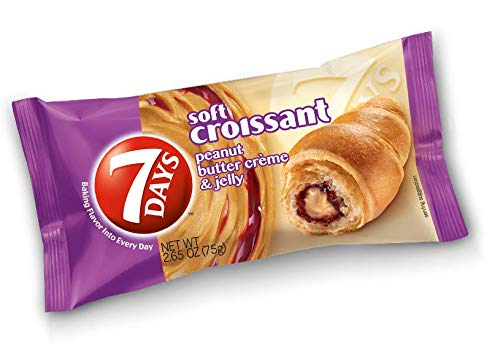 7 Days Soft Croissant, Peanut Butter and Jelly, 2.65 oz., 24 Count