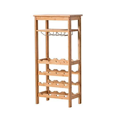 European Simple Wine Rack Home Floor Wine Rack Five-Layer Wine Rack Wine Glass Can Be Hanging Upside Down ()