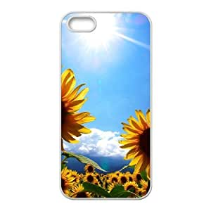 Sunflower DIY Cover Case for Iphone 5,5S,personalized phone case ygtg562864 by runtopwell