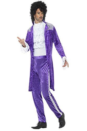 Smiffy's Men's 80s Purple Musician Costume