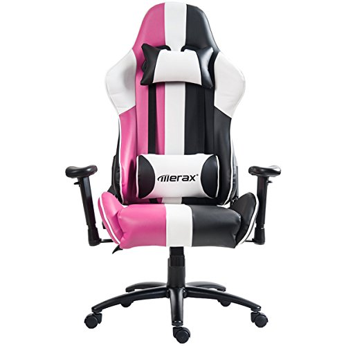 Amazon.com: Merax Justice Series Racing Style Gaming Chair Ergonomic High  Back PU Leather (Pink): Home U0026 Kitchen