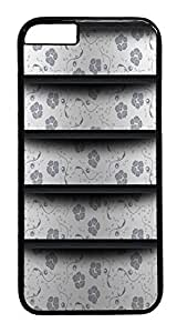 ACESR Flower Shelf iPhone 6 Hard Case PC - Black, Back Cover Case for Apple iPhone 6(4.7 inch) by lolosakes