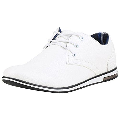 Chaussures Hommes Napoli-mode Affaires Schnurer Bas Blanches Semelle En Daim Jennika Caba?as Blanc