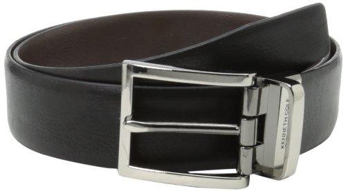 Kenneth Cole REACTION Men's Dress Reversible Belt Gunmetal Buckle (Belt Reversible Satin)