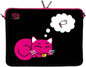 "KITTY TO GO LS143-10 Designer Netbook Sleeve 10.1"" Laptop Notebook Netbook Tablet Cover neoprene soft carry case up to 10.2 inch Anti Shock System"
