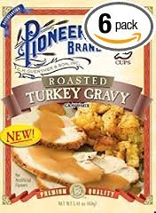 Pioneer Brand Roasted Turkey Gravy 141 Oz Packet Pack of 6