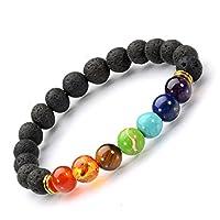Hecho a mano joyería Natural Stone 8mm brazalete de cuentas, Chakra ctystal sanar, equilibrar el Reiki, joyas para mujer y hombre