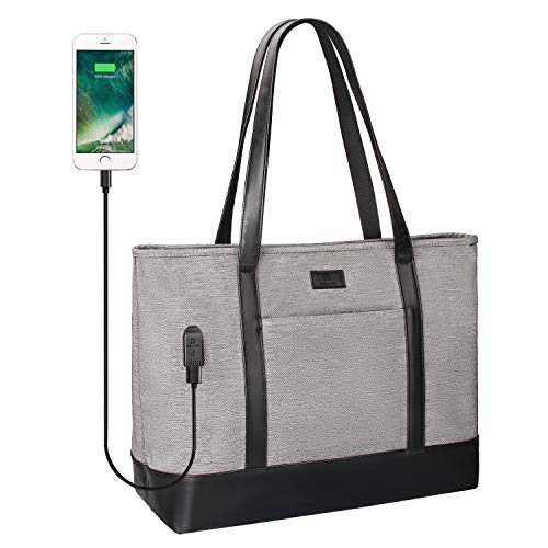 Laptop Tote Bag,15.6inch Laptop Purse Work Bag for Women Multiple Compartments