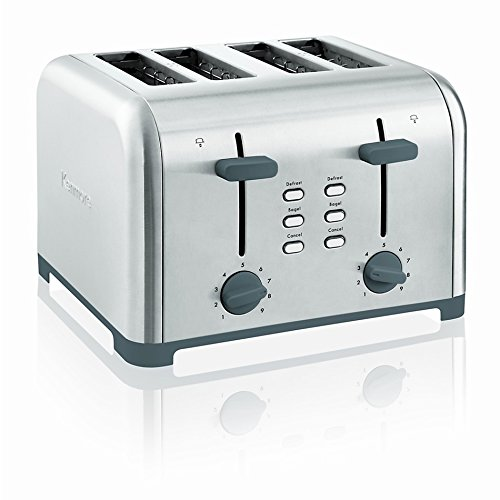 Kenmore 40605 4-Slice Toaster with Dual Controls in Stainless Steel