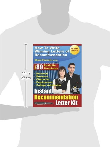Instant recommendation letter kit fourth edition how to write instant recommendation letter kit fourth edition how to write winning letters of recommendation shaun fawcett mba 9780981289847 amazon books spiritdancerdesigns Image collections