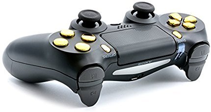 Black/Gold PS4 PRO Smart Rapid Fire Modded Controller Mods for FPS All Major Shooter Games Warzone & More (CUH-ZCT2U) 5