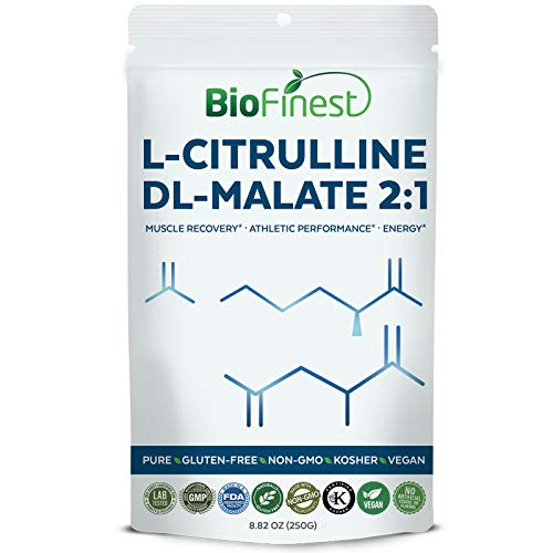 Biofinest L-Citrulline DL-Malate 2:1 Powder - Pure Gluten-Free Non-GMO Kosher Vegan Friendly - Supplement for Muscle Recovery, Energy Support, Athletic Performance ()