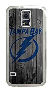 Samsung Galaxy S5 Case, Wood Tampabay Lightning Clear Plastic Hard Snap on Protective Case Back Cover for Samsung Galaxy S5 I9600