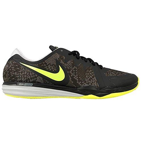 Nike W Dual Fusion TR 3 Print, Zapatillas de Gimnasia Para Mujer Negro (Black / Volt-Dark Grey-Wolf Grey)