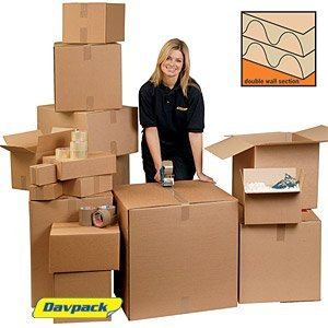 10 x Davpack Double Wall Cardboard Boxes (250mm x 200mm x 150mm) - 200+ Sizes Available - Ref ADW67