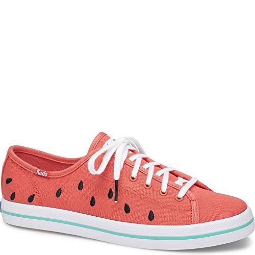 Keds Women's x SunnyLife Watermelon Kickstart Sneakers, Watermelon, Red, Print, 7.5 M US