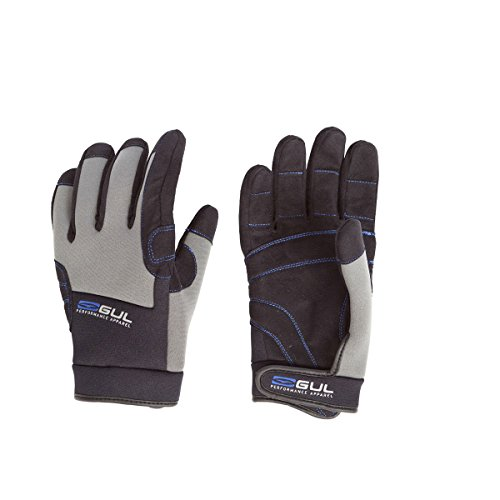 Gul Junior Winter FULL Finger Neoprene Backed Sailing Glove BLACK/Grey GL1238