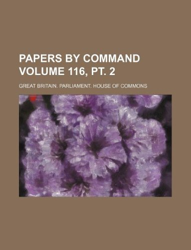 Download Papers by command Volume 116, pt. 2 PDF