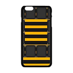 Personalized Creative Cell Phone Case For iPhone 6 ,yellow black grid and line