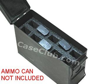 Case Club 10 Magazine Holder .30 Cal Ammo Can Foam (Pre-Cut, Closed Cell, Military Grade Foam)