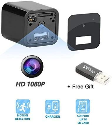 Amazon.com: Cámara con cargador USB, cámara oculta, cámara ...