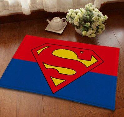 Amazon Com 23 X 15 Inch Blue Superman Bath Mat Red Superhero