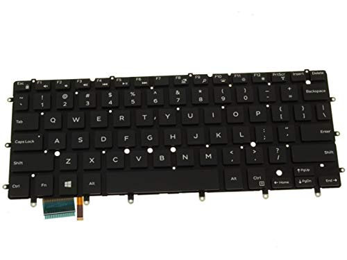 "Dell DKDXH Inspiron 13 7000 2-in-1 Series 7347 7348 XPS 13 9343 9350 13.3"" US Backlit Keyboard DLM14L26LAJ442 MP-14A6 Standard QWERTY 0DKDXH Chicony MP-14A63USJ698 PK1316I2A00"
