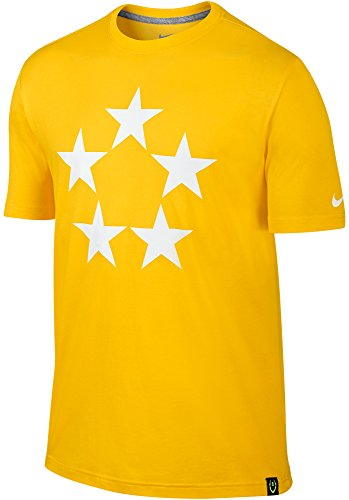 Nike Men's Field General 5 Star Dri-FIT Cotton T-Shirt (Small, Yellow) Captain Yellow T-shirt