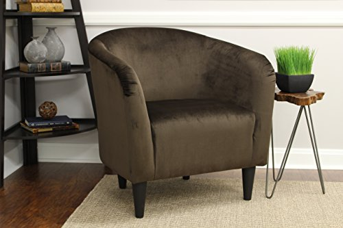 Mainstays Microfiber Tub Accent Chair (Chocolate Brown) | Rapunzel Store