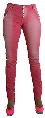 Blue Monkey Damen Jeans - 3579 - SKINNY rosa