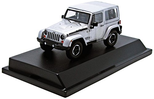 2014 Jeep Wrangler Polar Limited Edition Billet Silver Metallic With Display Showcase 1/43 by Greenlight 86056