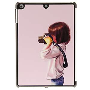 Pretty Girl Taking Photo Pattern PC Hard Case for iPad Air