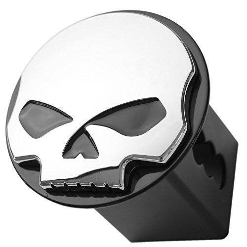 Skull 3d Chrome Emblem Tube Trailer Metal Hitch Cover Fits 2