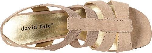 David Tate Womens Delight Taupe Nova Suede
