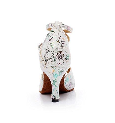 5cm Hauts Pour Talons fr5 Talon Chacha Sandales Samba Femmes Latine Tango Eu38 Blanc7 Modernes Salsa De Jazz Danse Our39 5 Jshoe Chaussures IwxqgTp66