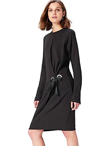 FIND Vestido Sudadera para Mujer Negro (Schwarz)