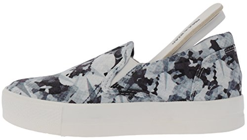 Denim Platform Flower Slip 30 Gray White Maxstar Sneakers C7 on TxpqtPnCw