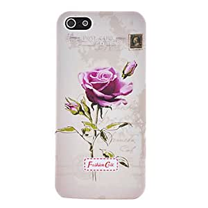 Retro Floral Series Rose Pattern Plastic Case for iPhone 5/5S