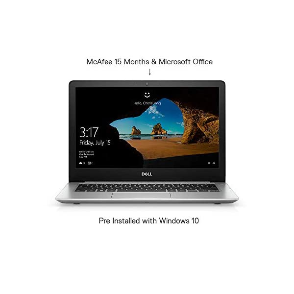 Dell Inspiron 5370 13.3-inch FHD Thin and Light Laptop (Core i5 8th Gen/8GB/256GB SSD/Windows 10 + MS Office), Silver