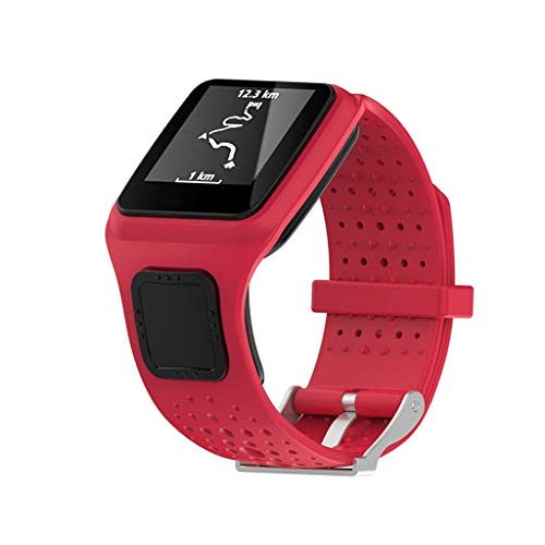 Sodoop Bands Compatible for for Tomtom Multi-Sport/Runner GPS Watch, Soft Sport Silicone Breathable Waterproof Wristband Straps for Tomtom Multi-Sport/Runner GPS Smart Watches