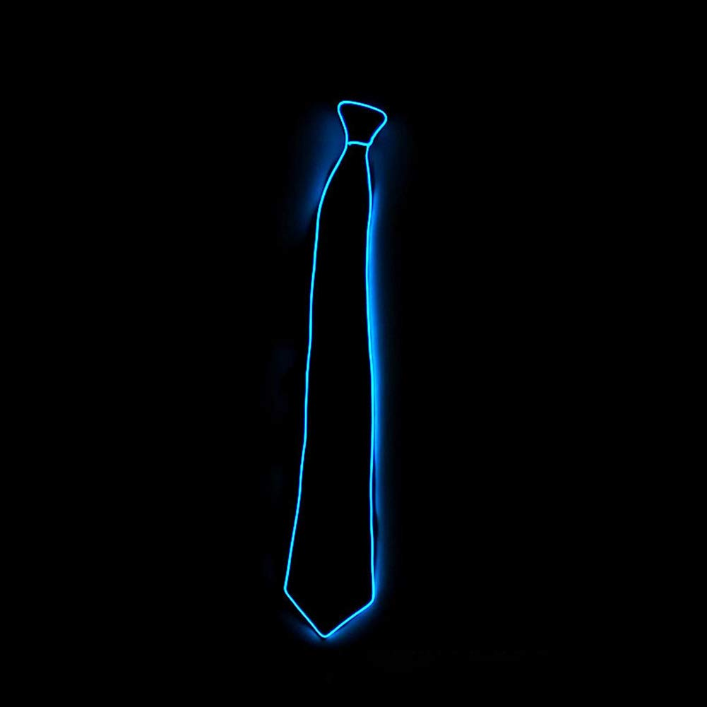 Adjustable Luminous Tie Novelty Party Light Up Tie Dress Decor SanZhi EL Wire with Switch Controller