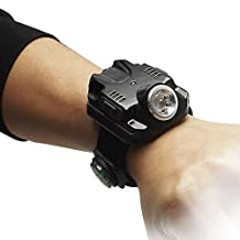 Lilyminiso LT-2211 Night Running Special Equipment Super Bright LED Wrist Light Waterproof Wristlight 2015 NEW Flashlight with Compass and Built in Battery Rechargeable (Black)