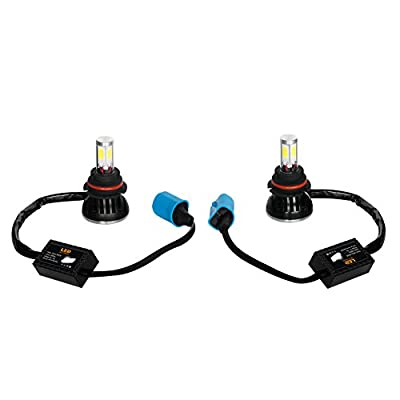 LED headlight,IMOSONTEC A Pair of LED Headlights For Cars Super Bright Headlight Bulbs Conversion Kit Headlamps H4/H13/9004/9007 With 40W/80W Two outputs 3K-8K color temp