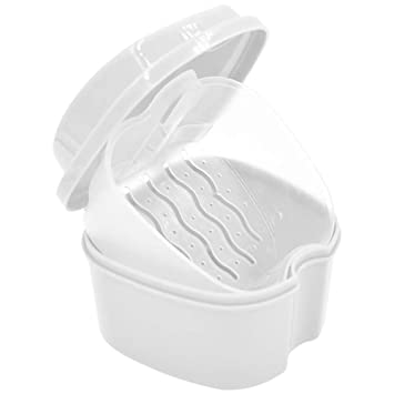 Amazon com : Xiton 1PC Strong Denture Box With Simple