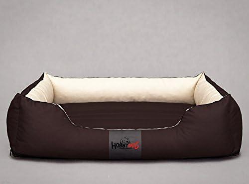 Hobbydog Cordura Lit pour Chien Tout Confort, XL, Marroncrème