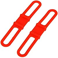 2 pcs MTB Cycling Bike Bicycle Silicone Band Flash Light Flashlight Phone Strap Tie Ribbon Mount Holder