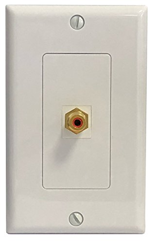 o F-Type Coax Subwoofer Wall Plate Decorative White (F Connector Terminator)